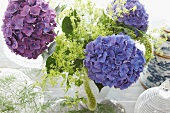 Summer bouquet with hydrangea