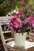 Bouquet on a garden chair