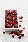 Bowl of dried rosebuds