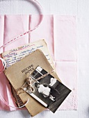 An old handwritten recipe book with a photo