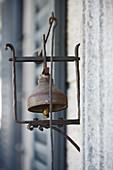 Vintage-style wrought iron door bell