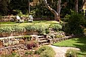 Summer garden on multiple levels