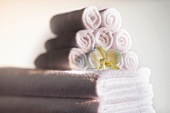 Orchid on towels
