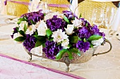 Floral table centrepiece for wedding