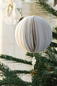 Paper ball as Christmas tree decoration