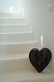 Decorative heart at staircase