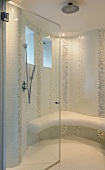 Modern bright shower