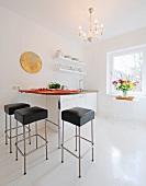 Modern bright open plan kitchen