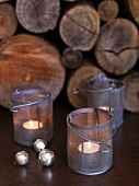 Tea light holders & decorative balls