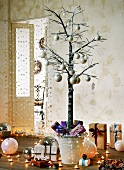 Modern Christmas tree and presents