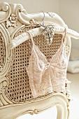 Lace underwear on hanger