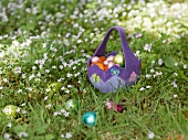 An Easter basket in a meadow