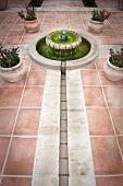 Detail fountain in courtyard
