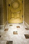 Marble tile floor in hallway