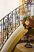 Decorative banister around staircase