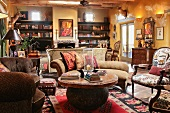 Living room interior southwestern style home