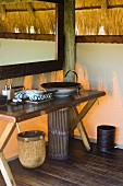 Bathroom at Mombo Camp in Botswana Africa