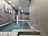 Indoor pool in minimalist building