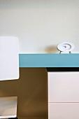Modern Blue Desk and White Chair