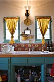 Old-fashioned Kitchen in Bright Colors
