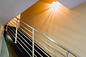 Detail of Contemporary Metal Staircase Railing