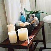 Candles and Bathroom Essentials