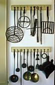 Hanging kitchen utensils