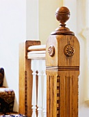 Skilfully turned and carved newel post