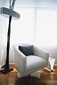Simple armchair in corner