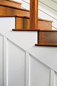 Detail of a wooden staircase