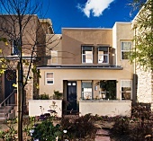 Exterior view contemporary town homes