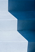 Highlight and shadow on blue staircase