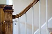 Detail wooden handrail