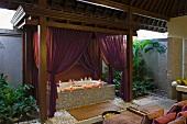 Elegant bath tub with spa treatment