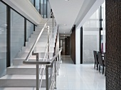 Modern staircase and railing