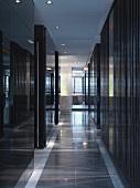 Dark colored modern hallway