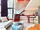 Bright colorful modern home interior