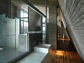 Bathroom in industrial modern home