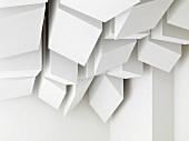 Architectural detail modern white ceiling