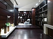 Library in modern home