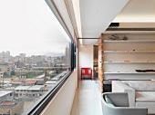 Long window in modern interior