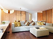 Minimalism living room with hardwood floors