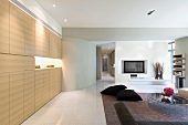 Modern living room and entertainment center