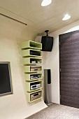 Audio visual equipment built into wall