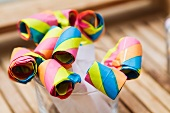 Colourful party blowers