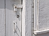 Lock on a Whitewashed Door