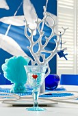 Maritime, blue & white table decoration