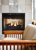 Reading Room With Fireplace