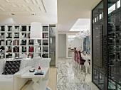 Elegant interior with marble floors