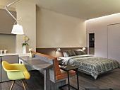 Interior modern studio size apartment style home